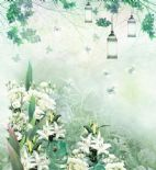 Blumarine Home Collection No. 2 Wallpaper Panel Fiaba Del Bosco BM25218 or 25218 By Emiliana For Colemans